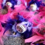 Feather Boas and Christmas Balls For Christmas Decor