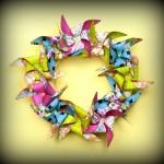 Cricut Expression Paper Pinwheel Wreath