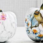 Artistic Decoupage Pumpkins