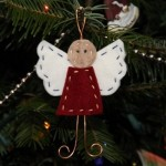 Felt and Wire Angel Ornament