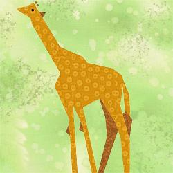 Giraffe Quilt Block
