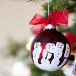 Five Finger Snowman Ornaments