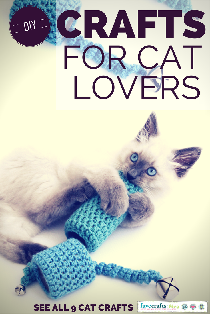 Easy To Crochet Cat Toy from Dabbles and Babbles