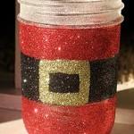 Glittery Santa's Belly Jar
