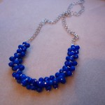 Cobalt Blueberries Necklace