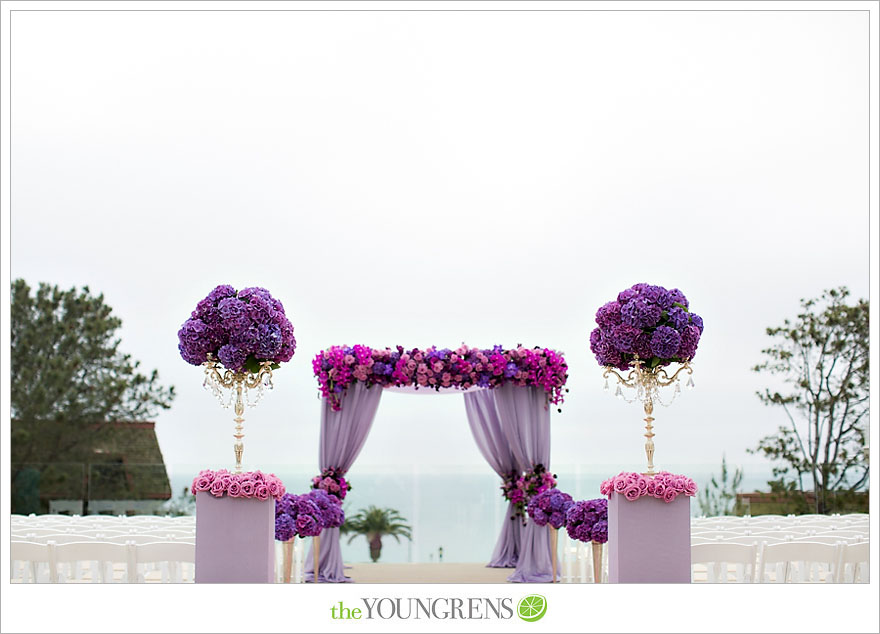 Elegant Purple and Pink Ceremony