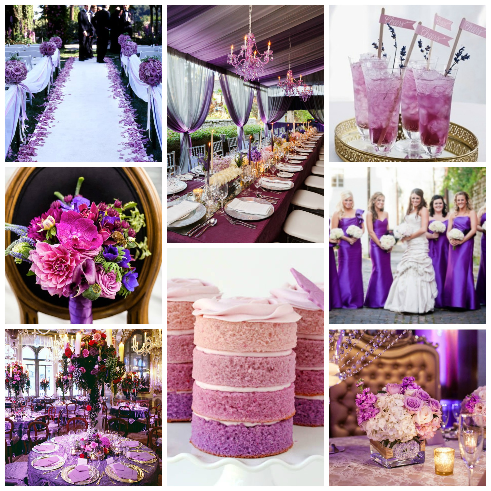 17 Ways to Make Radiant Orchid Happen in Your Wedding FaveCrafts