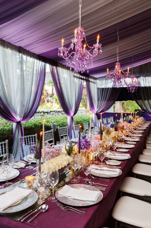 Radiant Orchid Wedding Reception