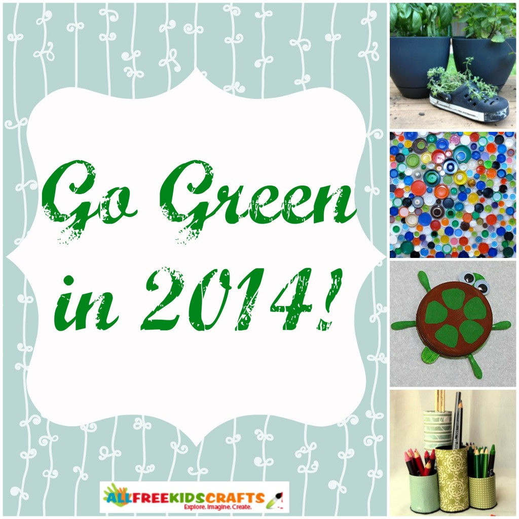 Your New Year's Resolution: Crafty Ways to Go Green with Kids
