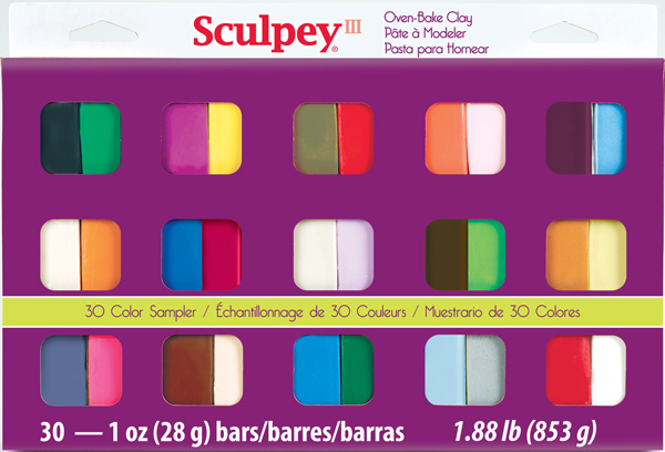 Sculpey III 30 Color Sampler and Tool Kit
