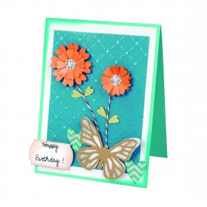 Blooming Butterflies and Flowers Birthday Card