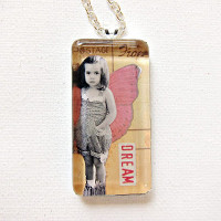 Gorgeous Glass Photo Pendant