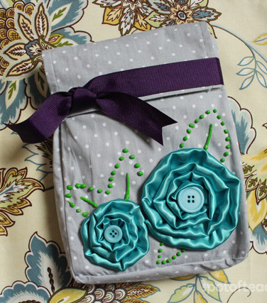 No Sew Fabric Flower Bag