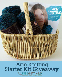 Arm Knitting Starter Kit (book + 3 skeins of yarn)