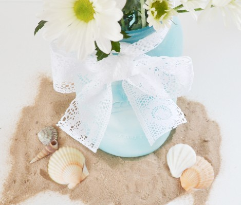 Faux Sea Glass Mason Jar Crafts