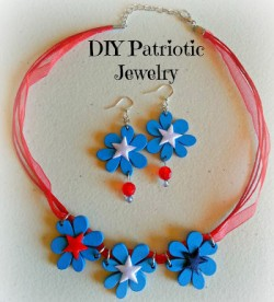 Easy Patriotic Ribbon Jewelry