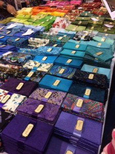 Fabric Display at International Quilt Festival