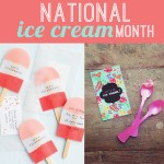 National Ice Cream Month Paper Crafts