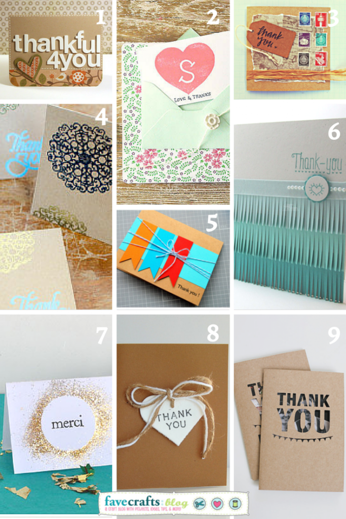 Link Love Diy Thank You Cards Favecrafts