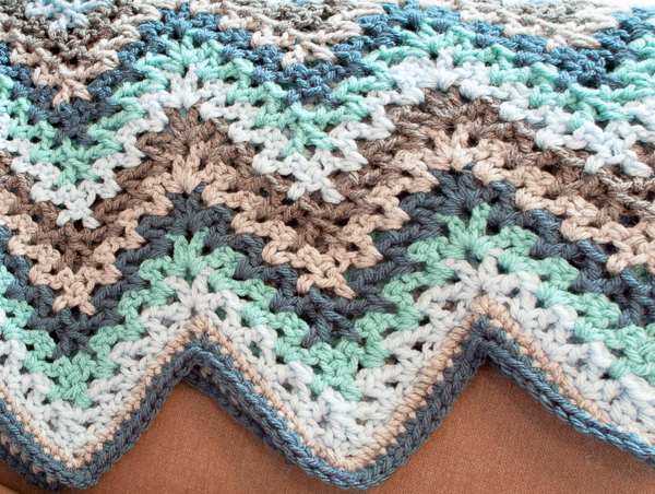 Crochet V Stitch Ripple Afghan