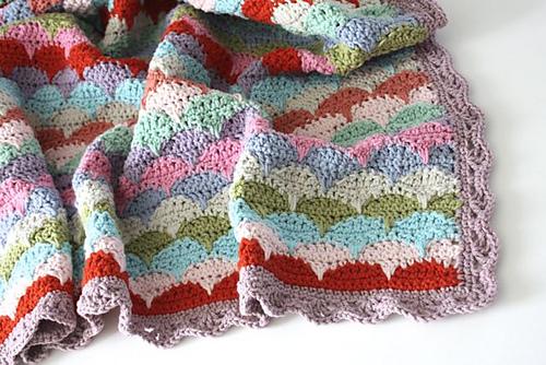 clamshell-crochet-afghan-pattern