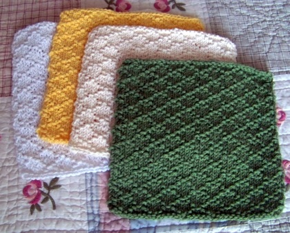 Lattice Stitch Dishcloth