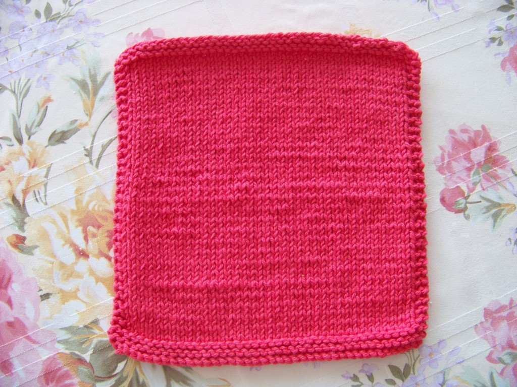 Super Stockinette Dishcloth