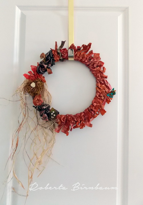 fabric-wreath