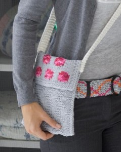 Easy Rose Petal Purse. This image courtesy of redheart.com.