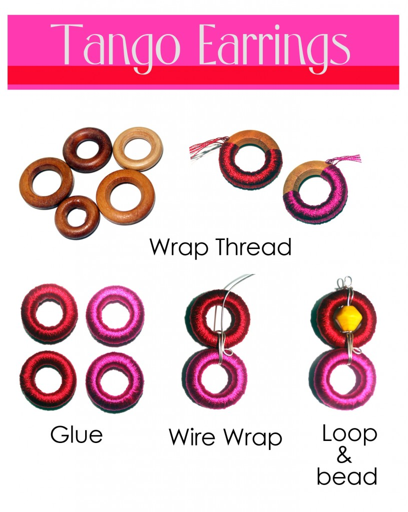 DIY tango earrings