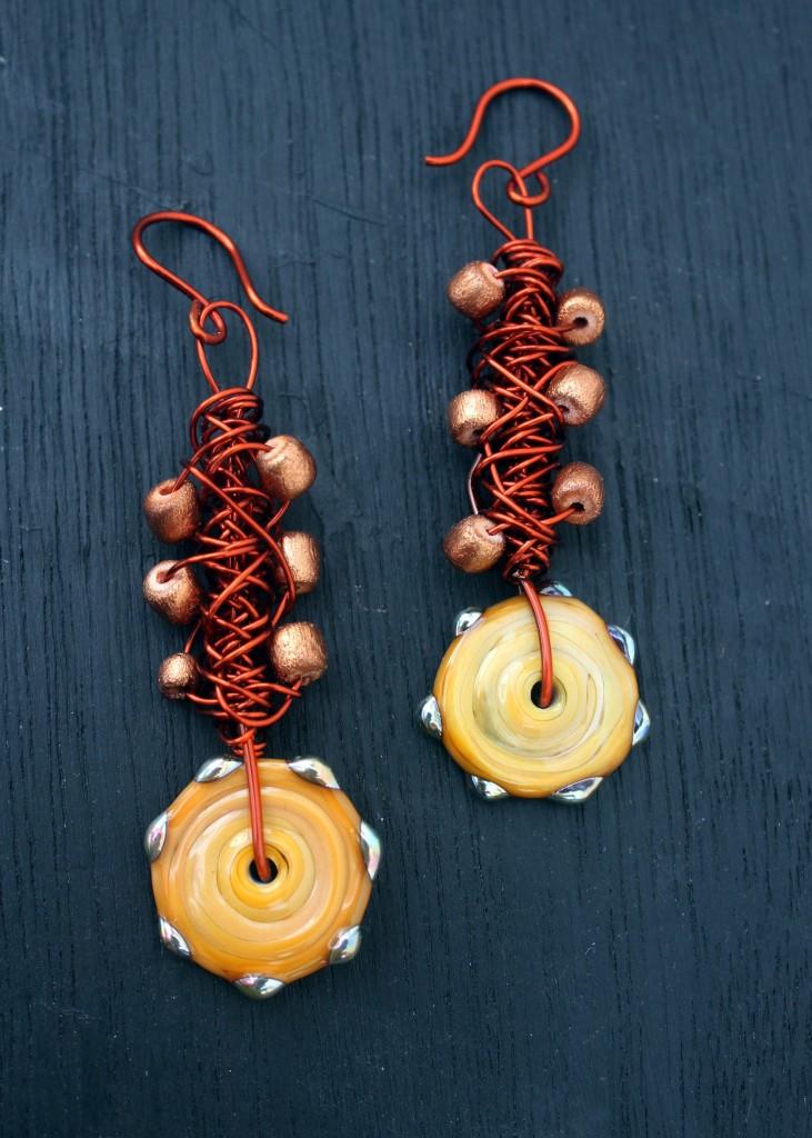 rustic wire earrings (2)