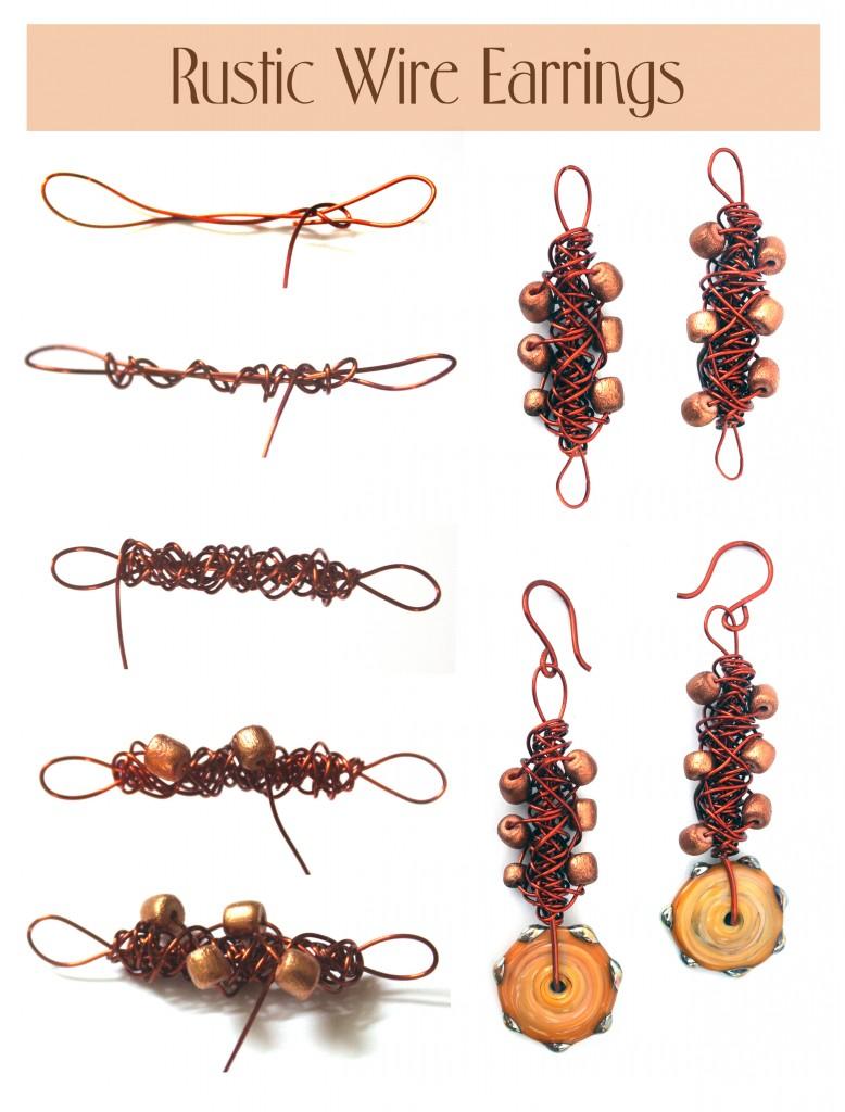 rustic wire earrings