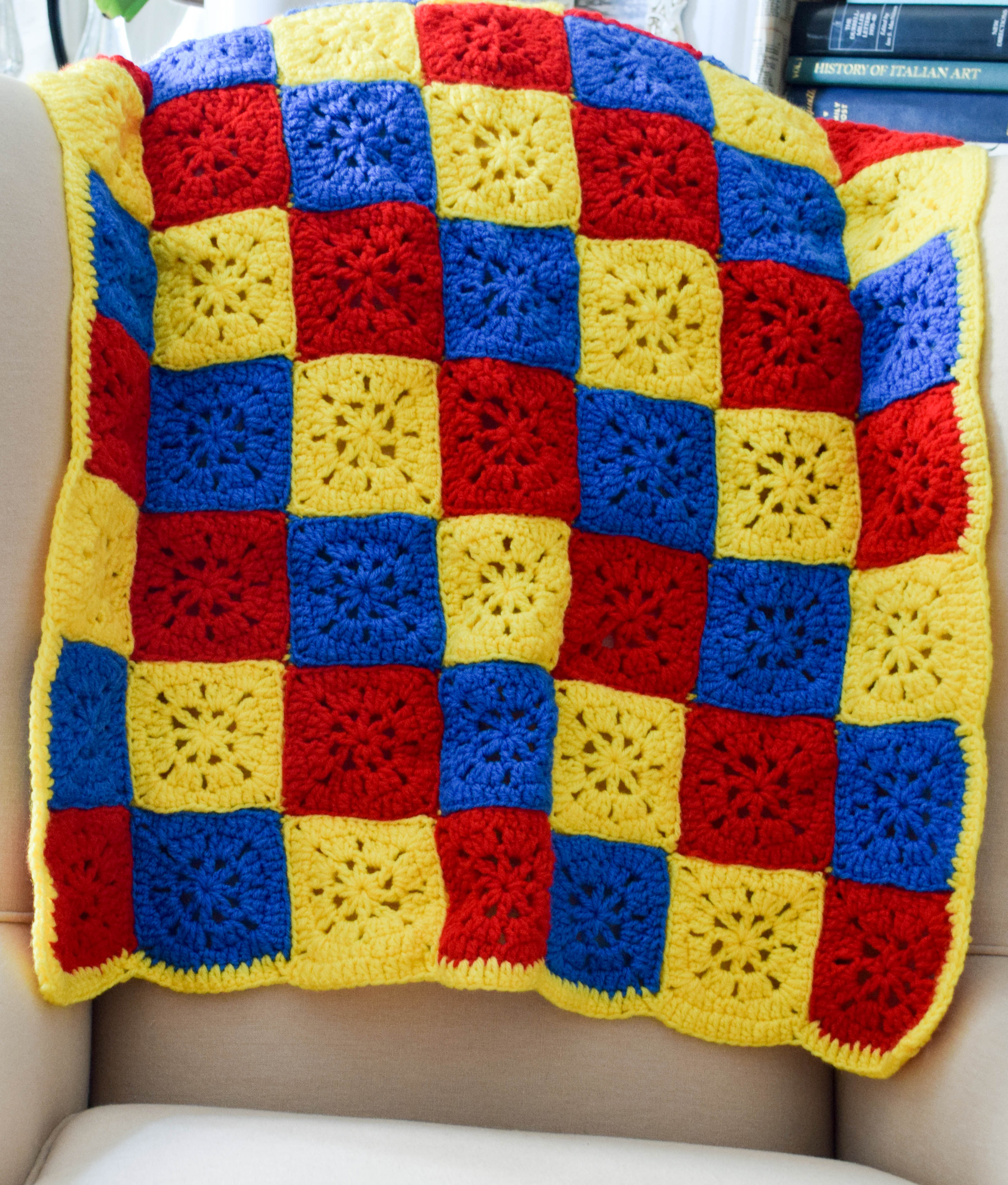 Checkerboard in Primary Colors Stroller Blanket - FaveCrafts