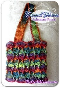 Sunset Waves Crochet Purse. This image courtesy of thecrochetlounge.com.