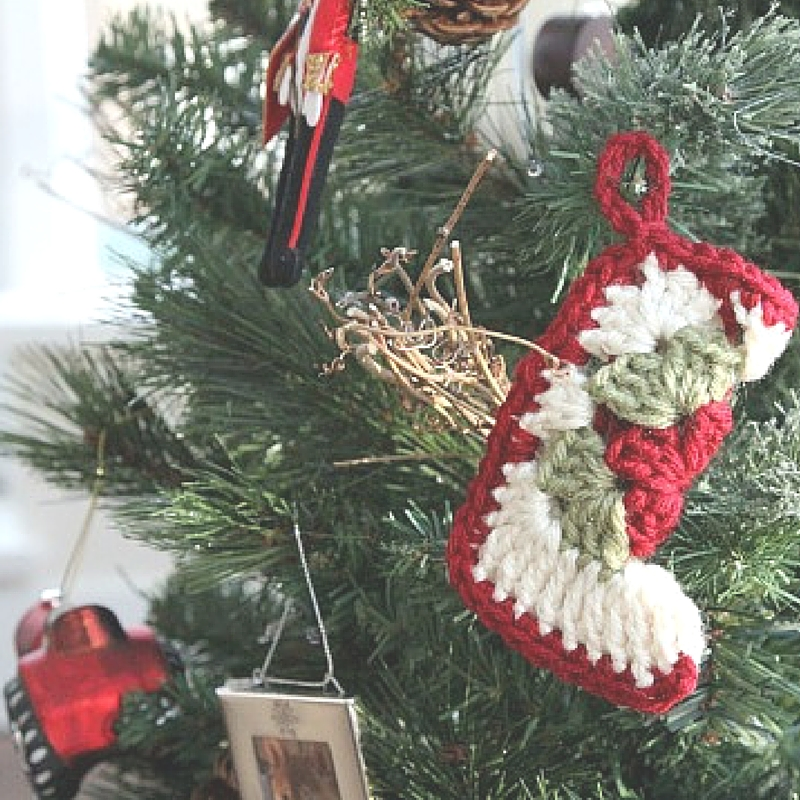 Granny Square Stocking Ornament