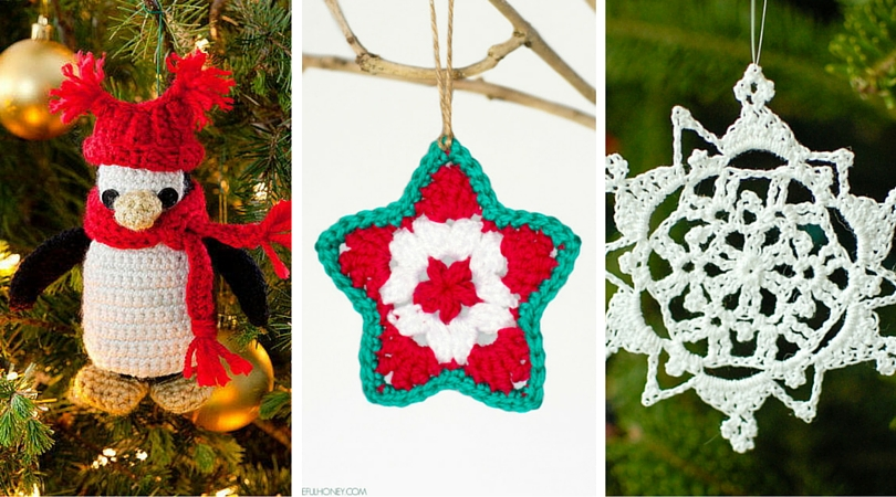 tis the season to crochet christmas ornaments 12 free patterns