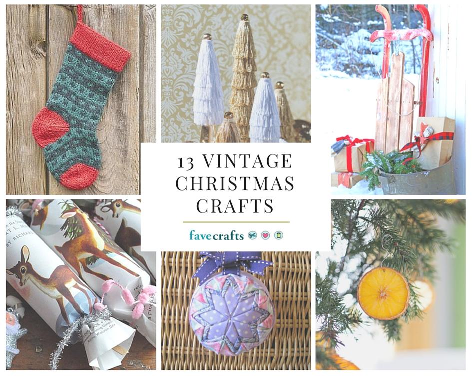 13 vintage christmas crafts favecrafts for Vintage christmas craft supplies