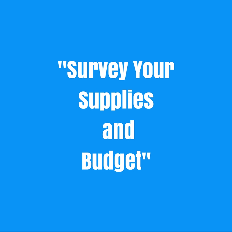 Survey Your Supplies and Budget
