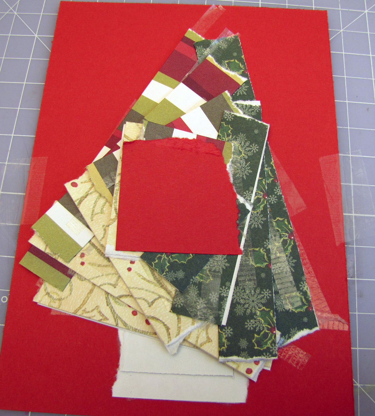 Iris Paper Folded Christmas Tree Handmade Card