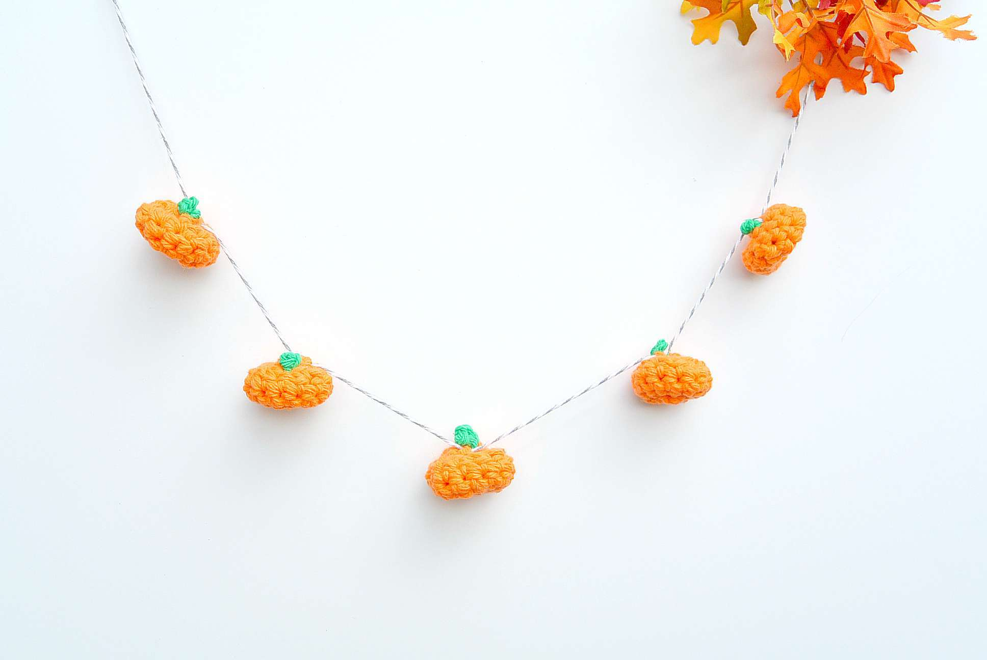Little Crochet Pumpkin Garland