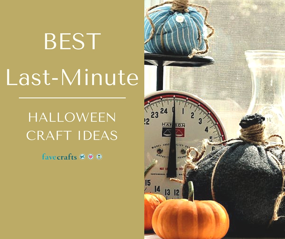 BEST Last-Minute Halloween Craft Ideas