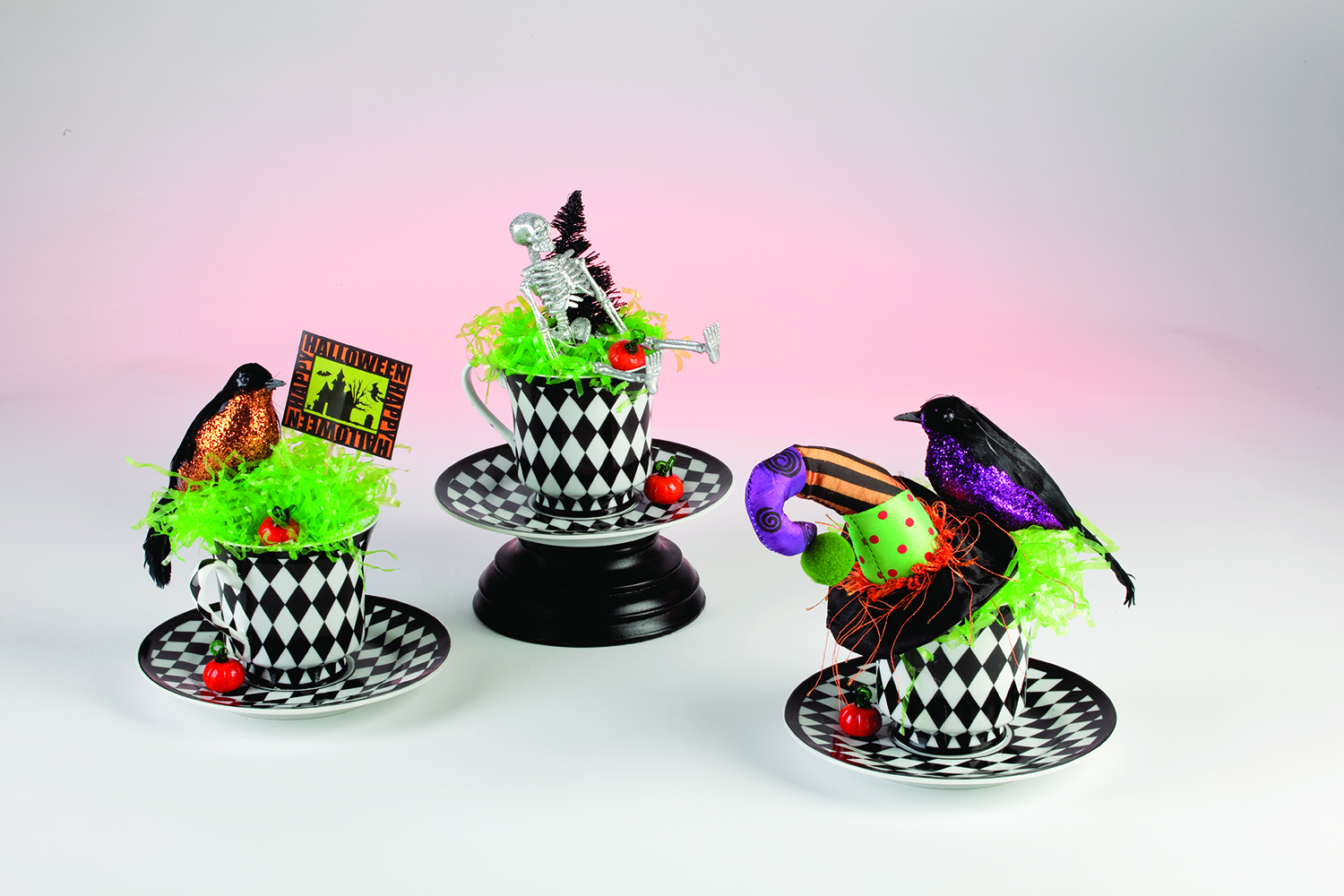 Mad Hatter Tea Cup Trio