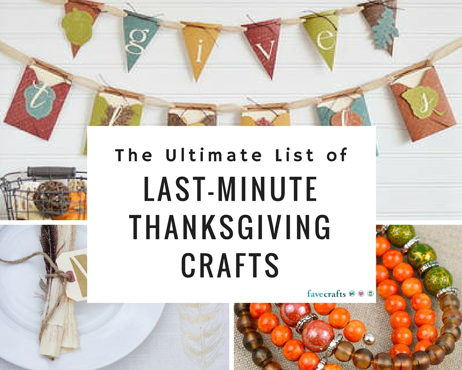 The Ultimate List of Last-Minute Thanksgiving Crafts
