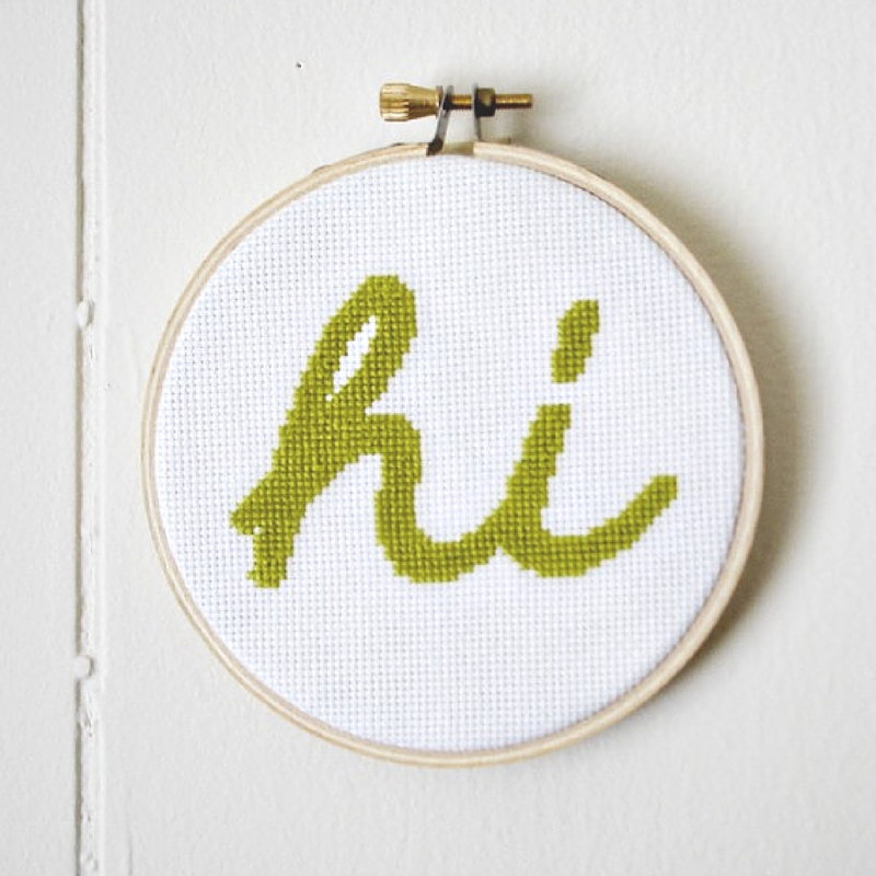 Oh Hi! Free Embroidery Pattern
