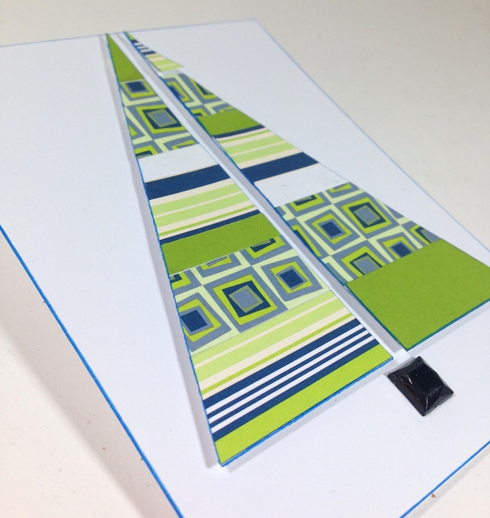 Modern Stripes Handmade Card for Christmas