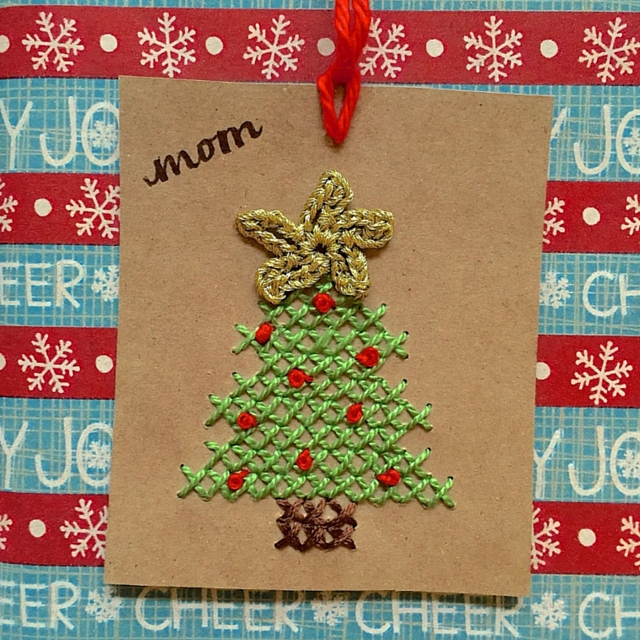 Cross Stitch Gift Tag Idea