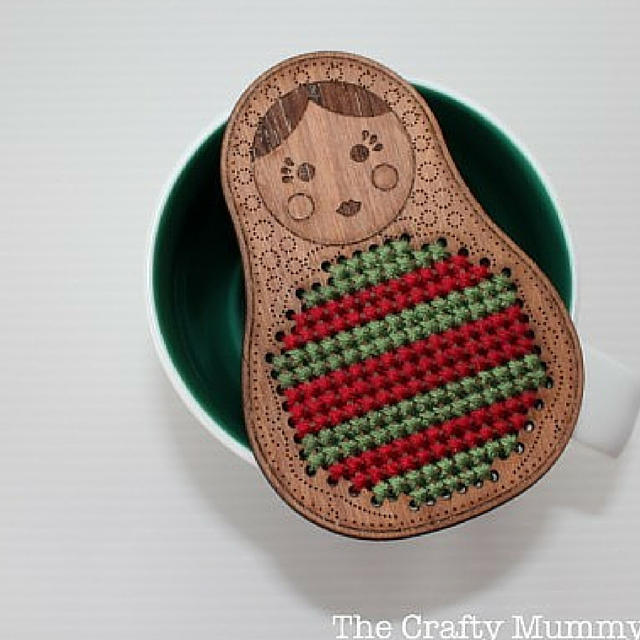 Cross Stitch Babushka Ornament