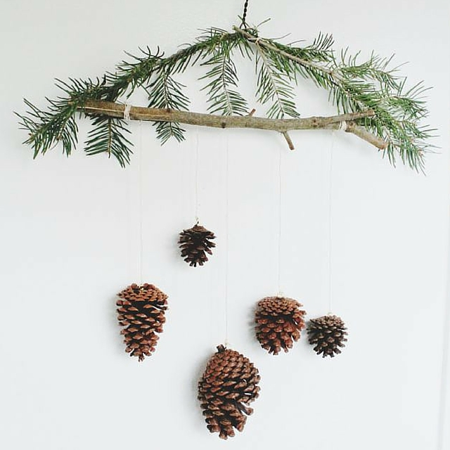 Pine Cone Ornament Mobile