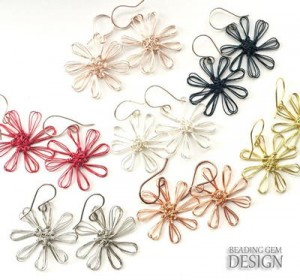 Easy Wire Flower Earrings