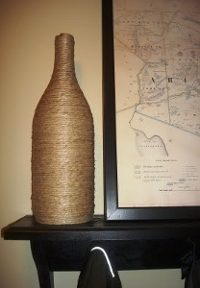 Hemp-Wrapped Wine Bottle